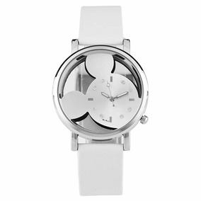 Relógio Feminino Mouse Branco - Quartzo