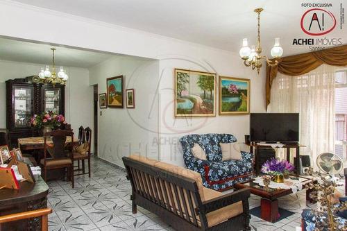 Apartamento À Venda, A 1 Quadra Da Praia Com 3 Dormitórios, 2 Vagas, 132 M² Por R$ 585.000 - José Menino - Santos/sp - Ap10375