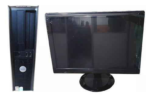 Dell Core 2 Duo 4gb 160gb Wifi  Monitor 17pol Nfe Garantia