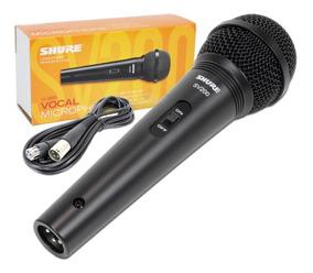 Microfone Mão Shure Sv200 Original Nota Fiscal Com Cabo