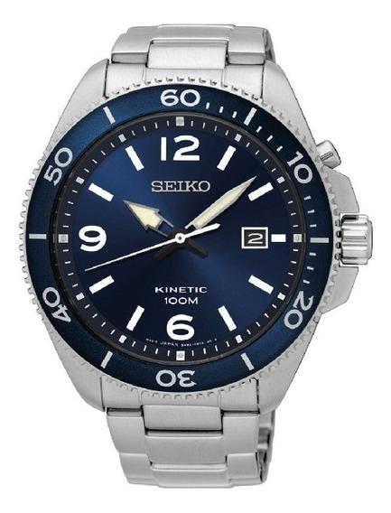 Relógio Seiko Masculino Kinetic Ska745b1 D2sx Prateado