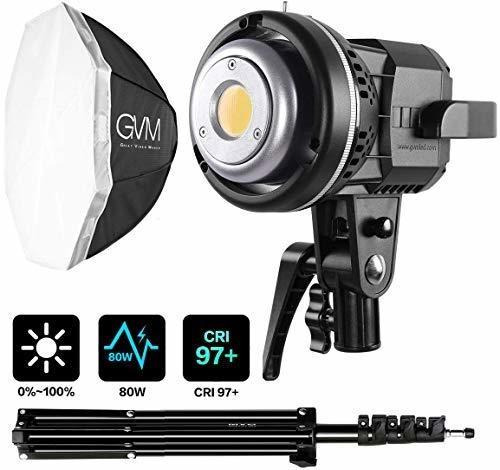 Kit De Iluminacion De Video Gvm 80w, Kit De Iluminacion De