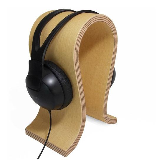 Suporte Headphone, Headset Gamer Em Madeira Tipo Marfim