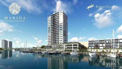 Desarrollo Marina. De Lujo En Puerto Cancun. Canal Homes Tipo A