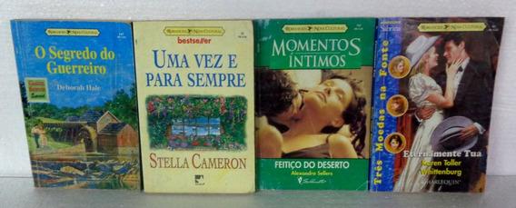 Pacote 4 Livros Romances Bom Estado A Pronta Entrega