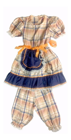 Vestido Infantil Caipira Maria Bonita Festa Fantasia Arraiá