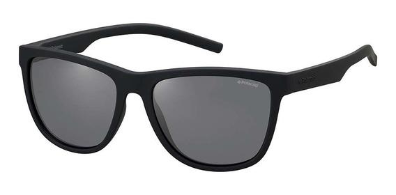 Óculos De Sol Polaroid Masculino Preto Pld6014/s Yyv 56/tr