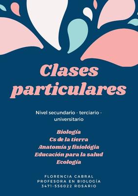Clases Particulares Biología- Anatomía- Fisiológia