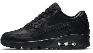 Tenis Nike Air Max 90 Ltr Totalmente Negro # 22.5 Al 25 Orig