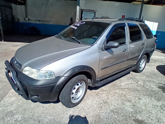 Fiat Palio Weekend 1.6 Adventure 2002 Cinza Completa