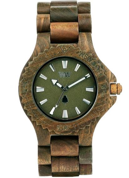 Relógio De Madeira Wewood - Date Army - Wwd04