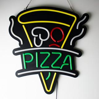 Placa Pizza Neon Letreiro Led Luminoso Moderno Novo Modelo