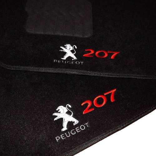 Tapete Personalizado Peugeot 207 Bordado 5 Peças