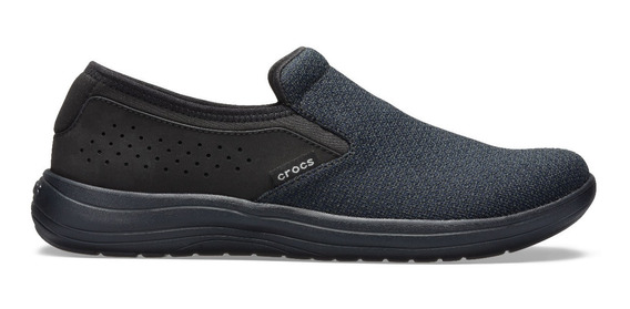 Zapato Crocs Caballero Reviva Slip On Negro