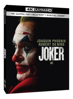 Joker 4k Ultra Hd + Blu-ray Nuevo Importado Original Cerrado
