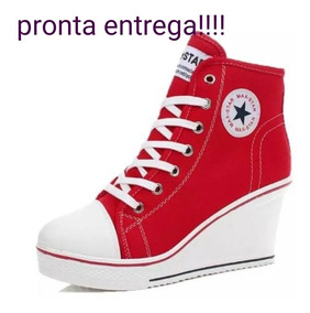 Tênis Bota Salto Anabela Max Star Importado Menor Preço!!!!