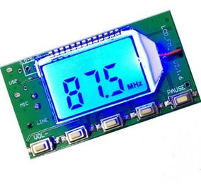 Transmissor De Rádio Fm Módulo Link Áudio Estereo Pll P2