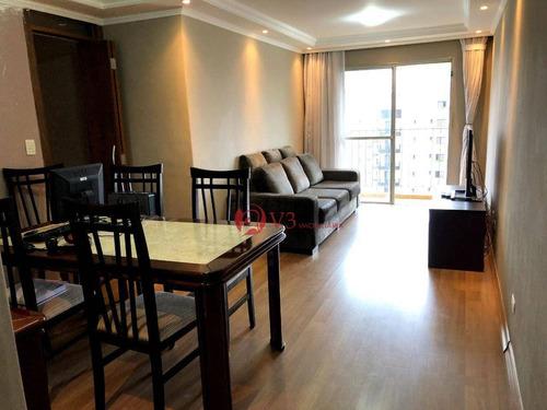 Apartamento Com 3 Dormitórios À Venda, 74 M² Por R$ 578.000,00 - Vila Regente Feijó - São Paulo/sp - Ap0459