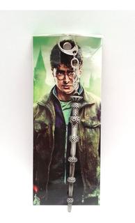 Harry Potter Varita Mágica De Sauco Llavero Metálico