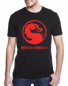 Camiseta Mortal Kombat Camisa Geek Games Nerds Caveira Jogos