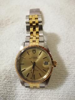 Reloj Tudor Caja Original Oyster Rolex, Acero Y Oro