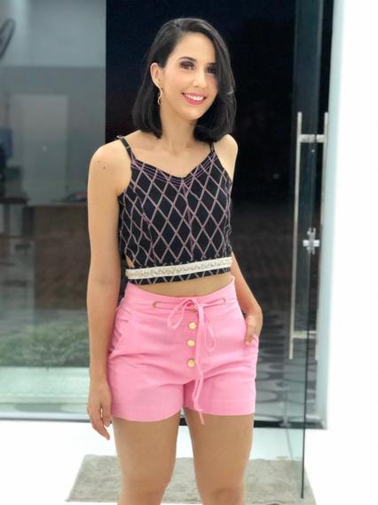 Cropped Pedraria Moda Blogueira Tirinha Regata Feminino