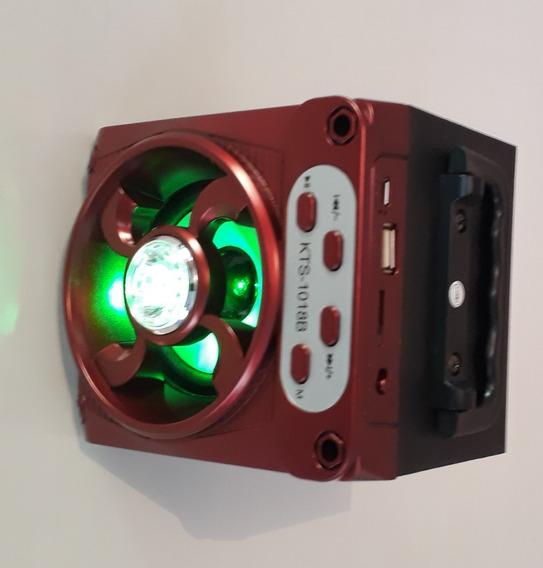 Caixa De Som, Mini Rádio Fm, Bluetooth, Mp3