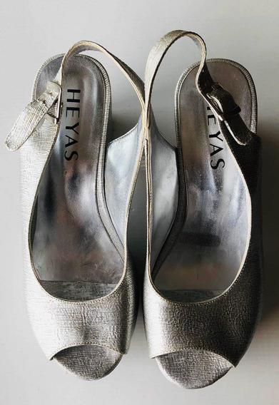 Zapatos/sandalias. Heyas. Para Mujer .plateadas.