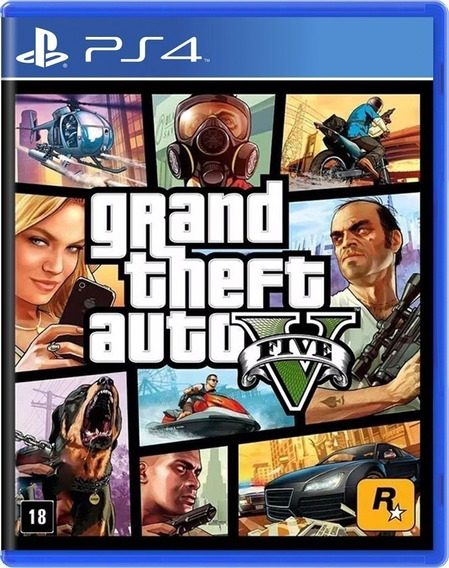 Grand Theft Auto V (gta V) Para Ps4, Novo, Lacrado