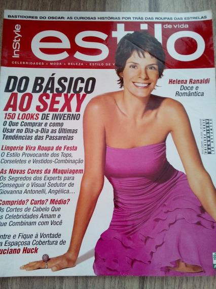 Revista Estilo Maio/03 Helena Ranaldi - Alinne Moraes -