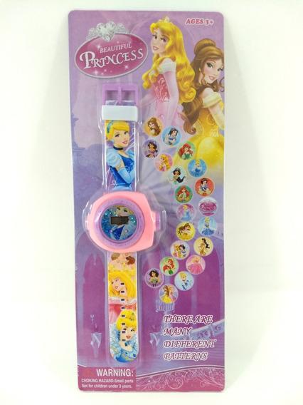 Relógio Infanti Princessl Projetor De Figuras Promoção!!!