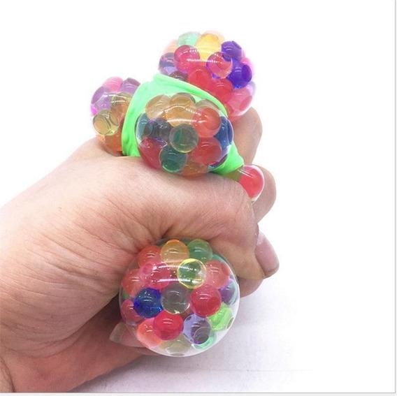 Kit 12 Squishy Mesh Ball Cores Variadas Antisstress Atacado