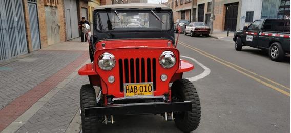 Jeep Willis Model0 53 Color Rojo Dos Puertas