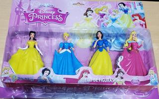 Princesas Set X4 Figuras Disney 14 Cm Bella Cenicienta
