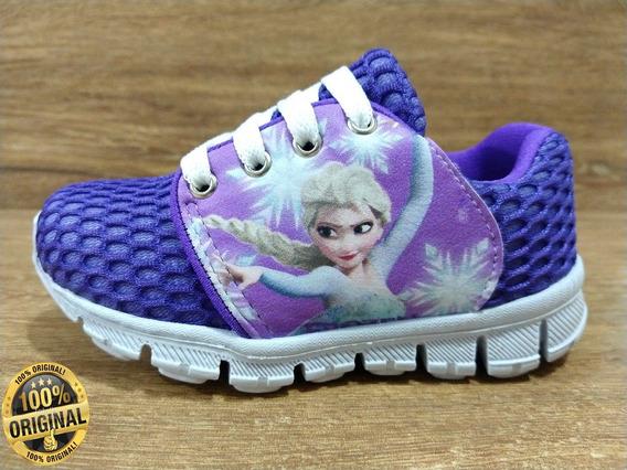 Tênis Infantil Feminino Frozen Super Promoção Barato