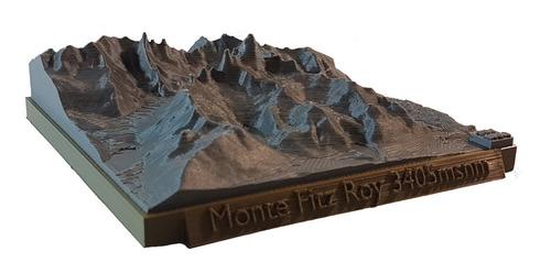 Modelo A Escala 1:100000 Monte Fitz Roy-el Chalten-c°torre