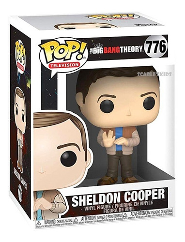 Funko Pop The Big Bang Theory Sheldon Cooper 776 Orig Scarle