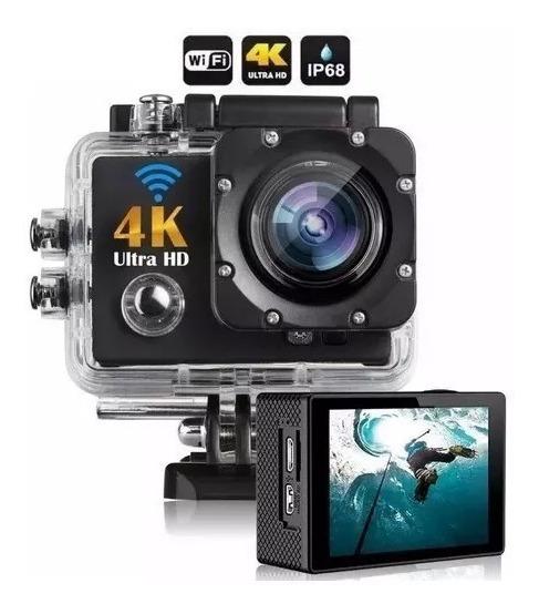 Câmara Go Sport Pro Wi-fi Lcd 4k 1080p Prova D