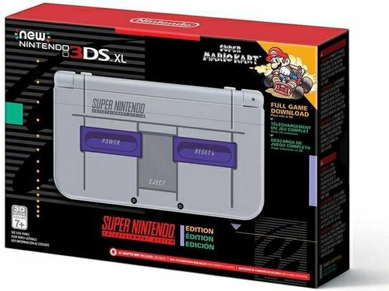 New Nintendo 3ds Xl Completo + 32gb Lotado De Jogos