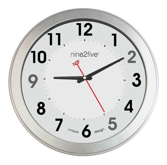 Reloj De Pared Nine2five, Plgt01bl Mov Silencioso Watch It