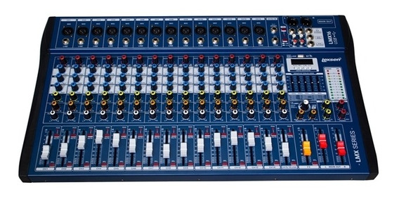 Mesa De Som Lexsen Lmx16usb Mp3 Mixer De 16 Canais