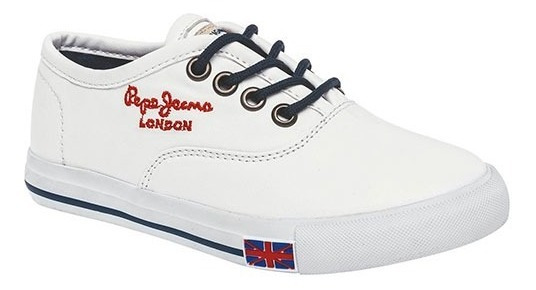 Tenis Casual Pepe Jeans Sully Niños Textil Blanco Dtt 10256