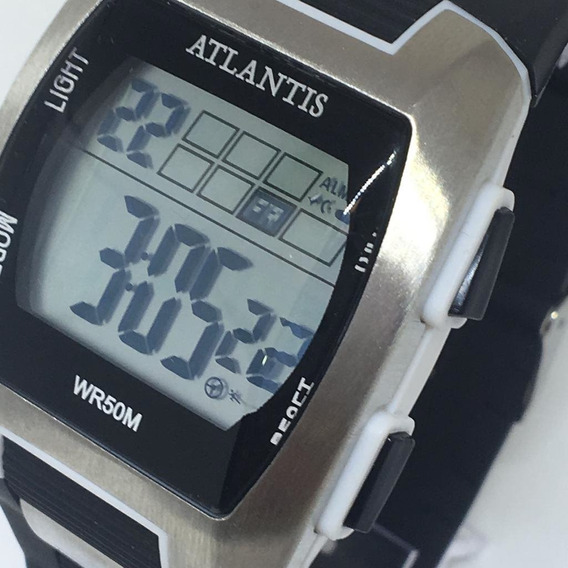Relógio Atlantis Quadrado Prata