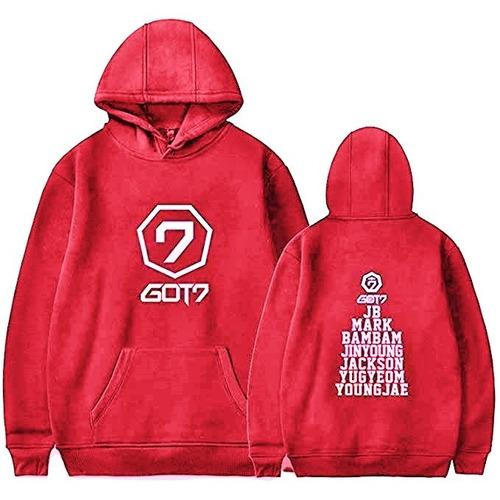 Imagen 1 de 3 de Sudadera Got7 Logo E Integrantes Hoodie Grupo Kpop Got7