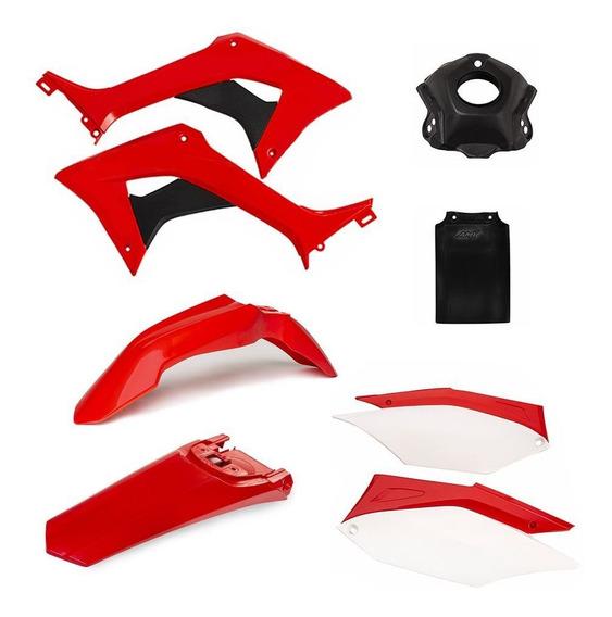Kit Plástico Amx Completo Honda Crf250f Mais Protetor Tanque
