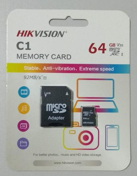 Cartão De Memória 64gb Classe 10 Micro Sd Hikvision