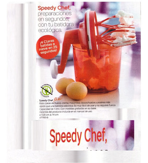 Maquina Tupperware Batidora Manual Speedy Chef