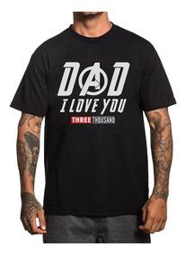 Playera Papa Iron Man I Love You Avengs Padre Dad