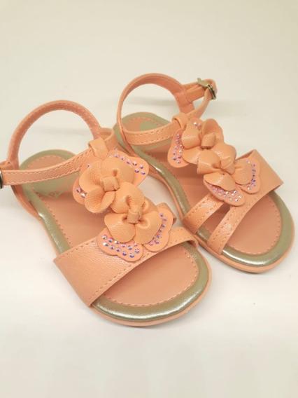 Sandalia Infantil Pampili Kiss Coral Fresh Original
