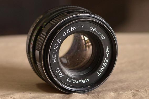 Objetiva Helios-44m-7 Mc 58mm 1:2 Com Adaptador Para Nikon